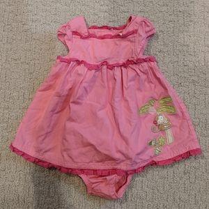 Gymboree baby girls pink dress 6-12 months